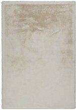 Lalee Edler weicher Kuschelteppich, Creme, 160 x