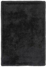 Lalee Edler weicher Kuschelteppich, Graphit, 80 x