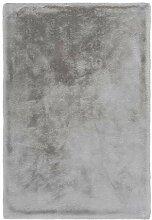 Lalee Edler weicher Kuschelteppich, Silber, 80 x