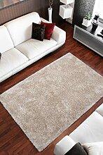 Lalee Hochwertiger Kuschelteppich, Sand, 160 x 230