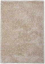 Lalee Hochwertiger Kuschelteppich, Sand, 80 x 150