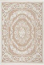 Lalee Klassisch-Moderner 3D Teppich, Beige, 80 x