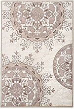 Lalee Teppich mit Glanzgarn, Beige, 80 x 150 cm