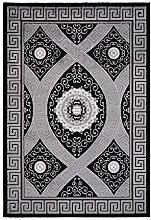 Lalee Teppich mit Glanzgarn, Schwarz, 80 x 300 cm