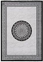 Lalee Teppich mit Glanzgarn, Silber, 120 x 170 cm