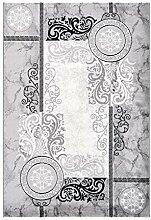 Lalee Teppich mit Glanzgarn, Silber, 160 x 230 cm