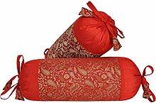 Lalhaveli Kissenbezug aus Seide Kissen für