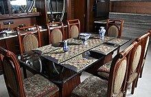 Lalhaveli Vintage Tischdecke tischläufer Seide