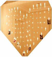 Lalia LED Lichterkette zum Aufhängen von Fotos,