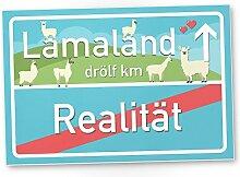 Lamaland Kunststoff Schild, kleines persönliches