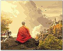 LAMAMAG Malen nach Zahlen Deep Mountain Buddha DIY