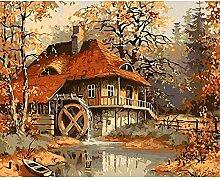 LAMAMAG Malen nach Zahlen Frameless Autumn DIY