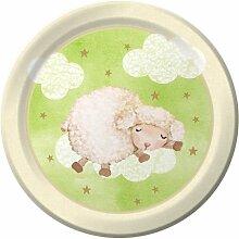 Lamb Baby Dusche Speisetellern (8)