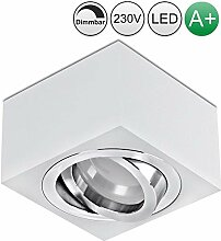 lambado® Flache LED Aufbauleuchte/Deckenstrahler