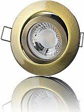 lambado® Premium LED Spot 230V Altmessing - Hell