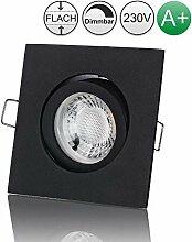 lambado® Premium LED Spot 230V Flach Schwarz -