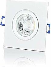 lambado® Premium LED Spot 230V Flach Weiß - Hell