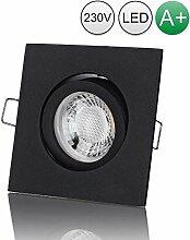 lambado® Premium LED Spot 230V Schwarz - Hell &