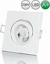 lambado® Premium LED Spot 230V Weiß - Hell &