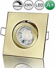 lambado® Premium LED Spot Dimmbar Altmessing -