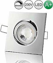 lambado® Premium LED Spot Dimmbar Chrom - Hell &