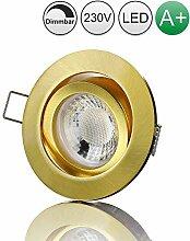 lambado® Premium LED Spot Dimmbar Gold - Hell &