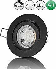 lambado® Premium LED Spot Dimmbar Schwarz - Hell