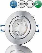 lambado® Premium LED Spot IP44 Alu Feinschliff -