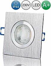 lambado® Premium LED Spot IP44 Alu gebürstet -
