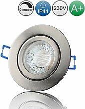 lambado® Premium LED Spot IP44 Dimmbar Edelstahl