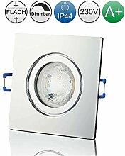 lambado® Premium LED Spot IP44 Flach Chrom - Hell