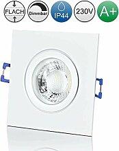 lambado® Premium LED Spot IP44 Flach Weiß - Hell