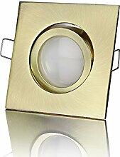 lambado® Premium LED Spots 230V Flach in Gold -