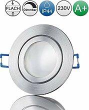 lambado® Premium LED Spots IP44 Flach in Alu