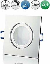 lambado® Premium LED Spots IP44 Flach in Chrom -