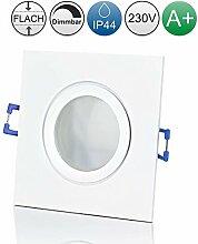 lambado® Premium LED Spots IP44 Flach in Weiß -