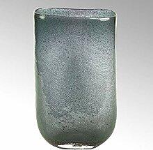 Lambert Cellini Vase oval Glas mit Kupfernetz