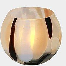 Lambert Monet Windlicht Glas Bauchig Bunt H10 D11Cm