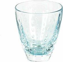Lambert Odile, Glas Mit Tropfen, Aqua, H10,5 D9 cm