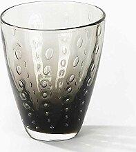 Lambert Odile, Glas Mit Tropfen, Basalt, H10,5 D9