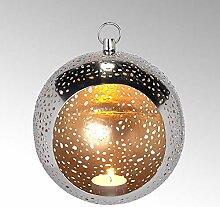 Lambert Pollux Teelichthalter Eisen geätzt rund