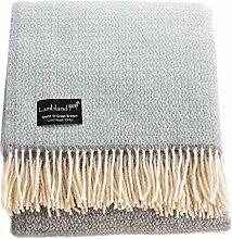 Lambland Schurwolle Überwurf–Decke mit