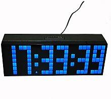 LambTown Digitale LED Wanduhr für Küche Schlafzimmer Blau