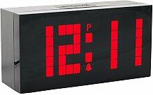 LambTown LED Digital Wecker Großes LED Display Wanduhr mit Temperatur Datum - Ro