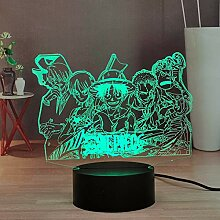 Lamchim Nachtlicht LED Anime One Piece, Luffy