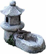 LAMEIDA Mini Garten gartenteich Turm Teich Deko