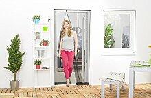 Lamellenvorhang Insektenschutz Fliegengitter Tür Mückenschutz schwarz 100 x 220 cm - Polyester