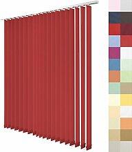 Lamellenvorhang nach Maß, 27 Farben, alle Größen, Lamellen, Maßanfertigung, Schiebevorhang, ohne Deckenschiene, Vertikaljalousie, 89 mm (Fuchsia, Höhe: 180cm x Breite: 124,6cm = 14 Lamellen)