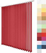 Lamellenvorhang nach Maß, 27 Farben, alle Größen, Lamellen, Maßanfertigung, Schiebevorhang, ohne Deckenschiene, Vertikaljalousie, 89 mm (Fuchsia, Höhe: 195cm x Breite: 275,9cm = 31 Lamellen)