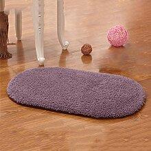 Lammfell Küche Wohnzimmer Türmatten Schlafzimmer Teppich Badezimmer Rutschfeste Matte Badezimmer Wasseraufnahme Teppich , purple , 50cm*80cm